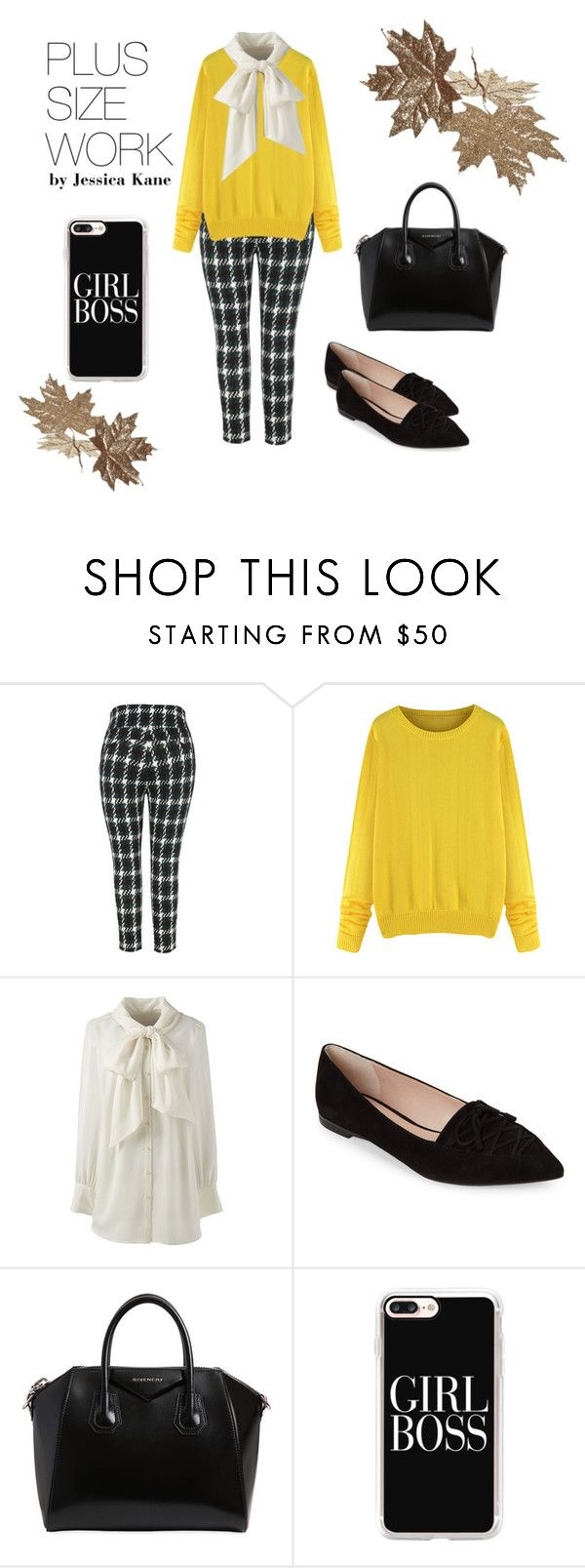 Plus Size Workwear - Girl Boss by jessicakanestyle on Polyvore featuring Lands' End, Melissa McCarthy Seven7, French Connection, Givenchy, Casetify, WorkWear, plussize, polyvoreeditorial, polyvorecontest and plus size clothing