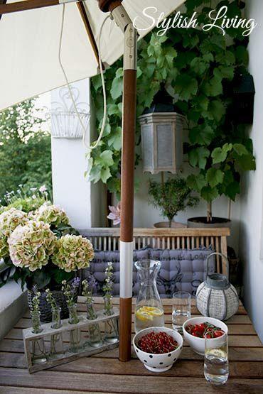 Die besten 25+ Sonnenschirm für balkon Ideen auf Pinterest - markisen fur balkon design ideen