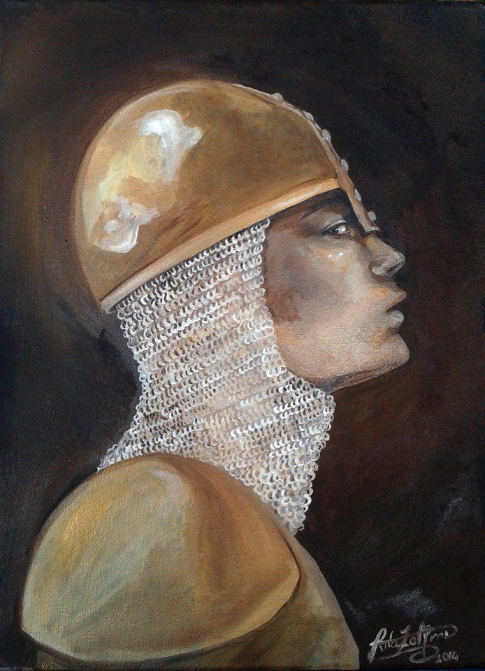 Cavaliere. olio su tela, 30X40 cm