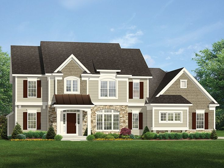 Eplans Colonial House Plan Family Home With A Touch Of