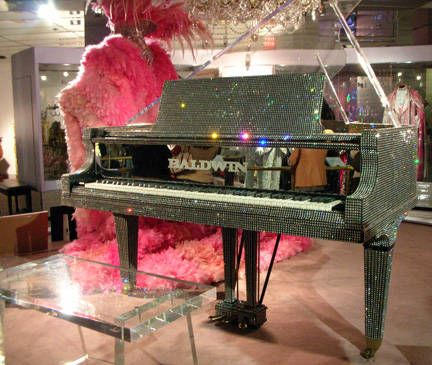 I love Liberace's rhinestone piano! It is crazy awesome!