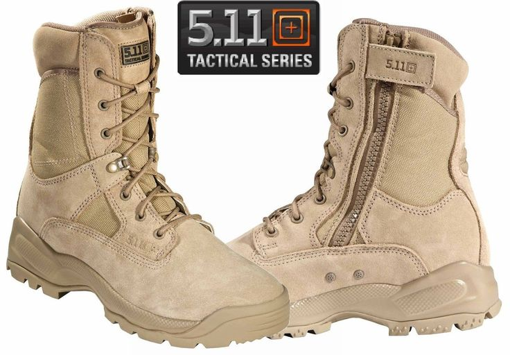 """5.11 A.T.A.C. 8"""" COYOTE TACTICAL BOOTS Engineered to meet the demands of law enforcement, military, and tactical operators, the ATAC® 8"""" Coyote Boot delivers high performance and comfort in a professi"""