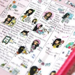 Pegatina - 6 hojas  - Bonnie Buy here: www.lacasadepapel.com