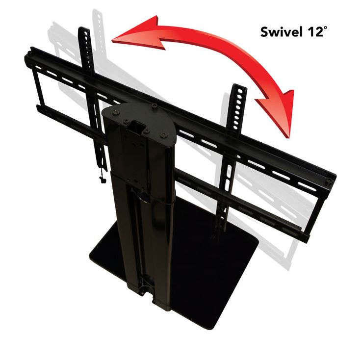 this tv mount with shelf adds a unique ability to swivel where