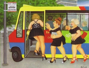 'Bus Stop' by Beryl Cook