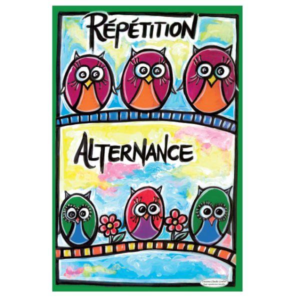 Affiche répétition et alternance