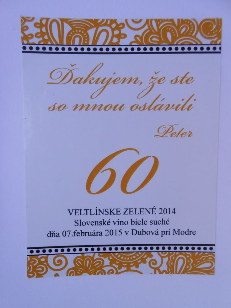Oslava 60-tych narodeniny