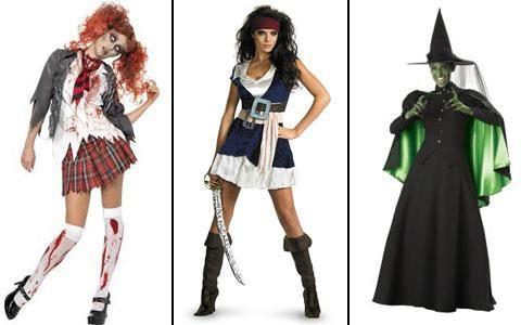Страшные костюмы на хэллоуин для девушек