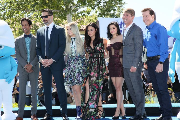 CULVER CITY, CA - APRIL 01:  (L-R) Actors Danny Pudi, Joe Manganiello, Meghan Trainor, Demi Lovato, Ariel Winter, Jack McBrayer and Jeff Dunham attend the premiere of Sony Pictures' 'Smurfs: The Lost Village' at ArcLight Cinemas on April 1, 2017 in Culver City, California.  (Photo by David Livingston/Getty Images) via @AOL_Lifestyle Read more: https://www.aol.com/article/entertainment/2017/04/02/acm-awards-2017-red-carpet-arrivals/22022806/?a_dgi=aolshare_pinterest#slide=4968072#fullscreen