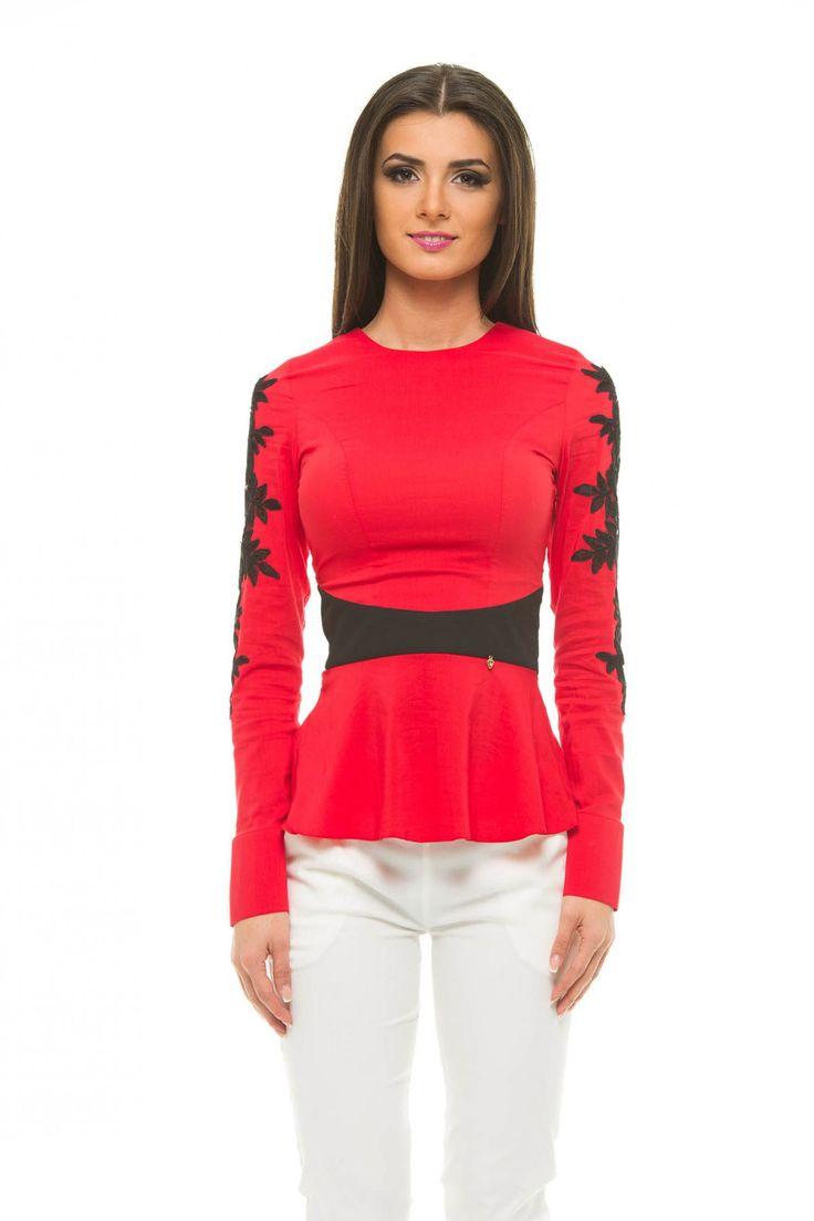 LaDonna Frosty Elegance Red Shirt