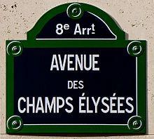 Chapm Élysées the second most beatiful avenue I've walked!