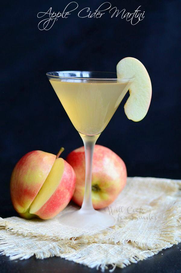 Apple Cider Martini  3 oz apple vodka  1 oz cinnamon liqueur  4 oz apple cider  Splash of Grand Marnier