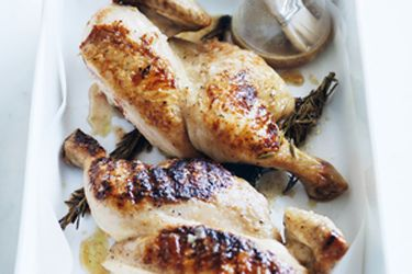 Rosemary and garlic beer-marinated chicken