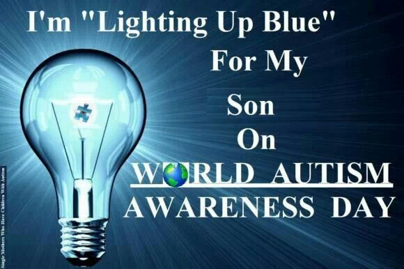 For my son.  April 2 is World Autism Awareness Day.