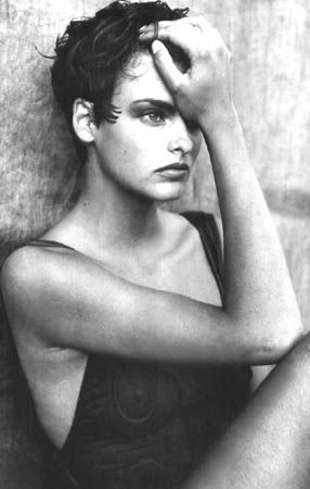 By Photographer Peter Lindbergh -- Portrait - Fashion - Editorial - Black and White - Photography - Pose Idea
