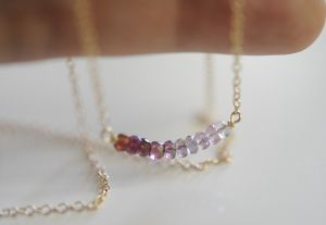 Dainty and Delicate Beaded Necklace | A beautiful necklace your bridesmaids can wear down the aisle.