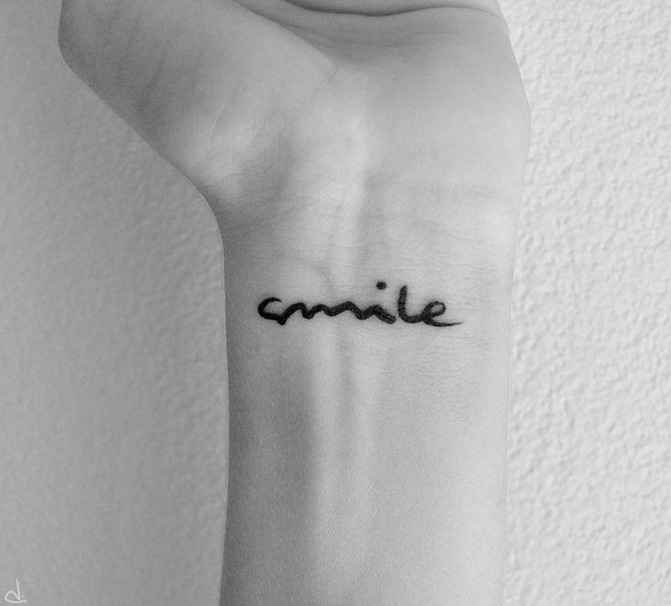 Handwritingg: Tattoo Placements, Tattoo Ideas, Smile Tattoo, Wrist Tattoo, Tattoo Fonts, Tattoo Piercing, Words Tattoo, Little Tattoo, Tattoo Ink