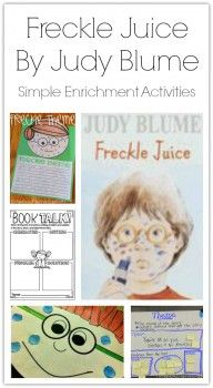 Simple Enrichment Activities For Freckle Juice By Judy Blume