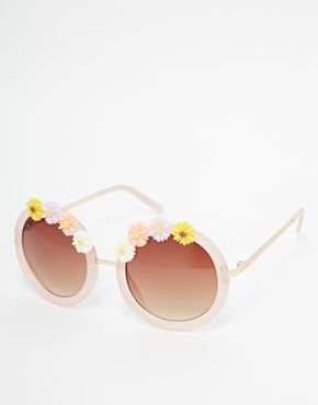 River Island Kelly Round Floral Sunglasses