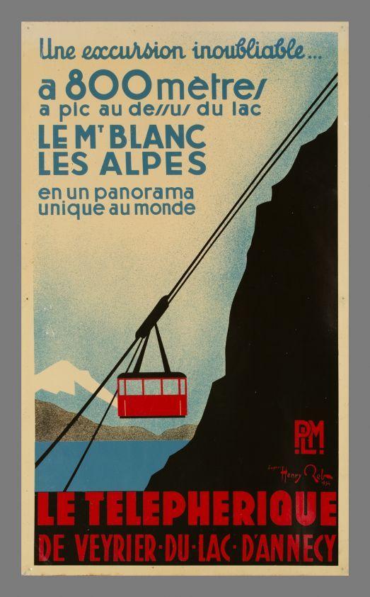 Annecy, Le Téléphérique de Veyrier-du-lac-d'Annecy, Mont-Blanc, PLM