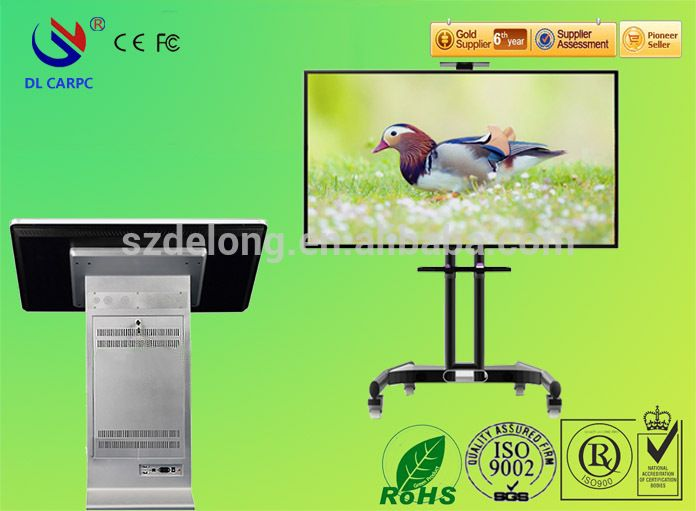 42 Free Standing Interactive Multi Touch Kiosk IR touch all in one lcd led monitor all in one pc