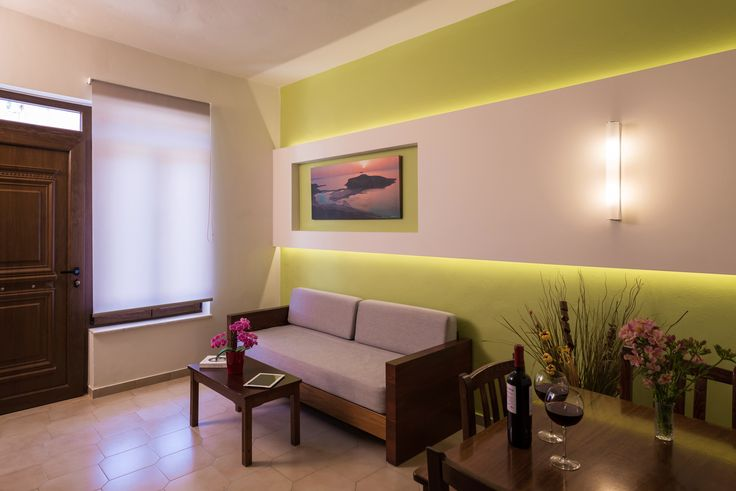 Spacious and bright living rooms in the two floor  , two bedroom suites at Oscar Suites and Village, Agia Marina - Crete - Greece