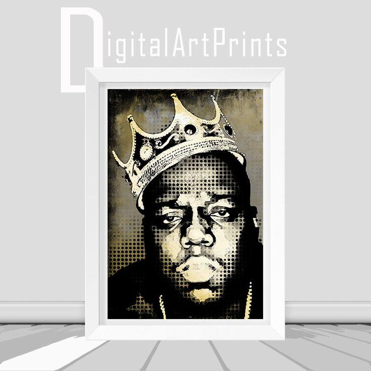 Biggie Smalls Vintage Poster Notorious BIG Vintage Art Notorious BIG Instant Download Biggie Notorious Wall Art Decor Notorious Poster by DigitalArtPrintsShop on Etsy