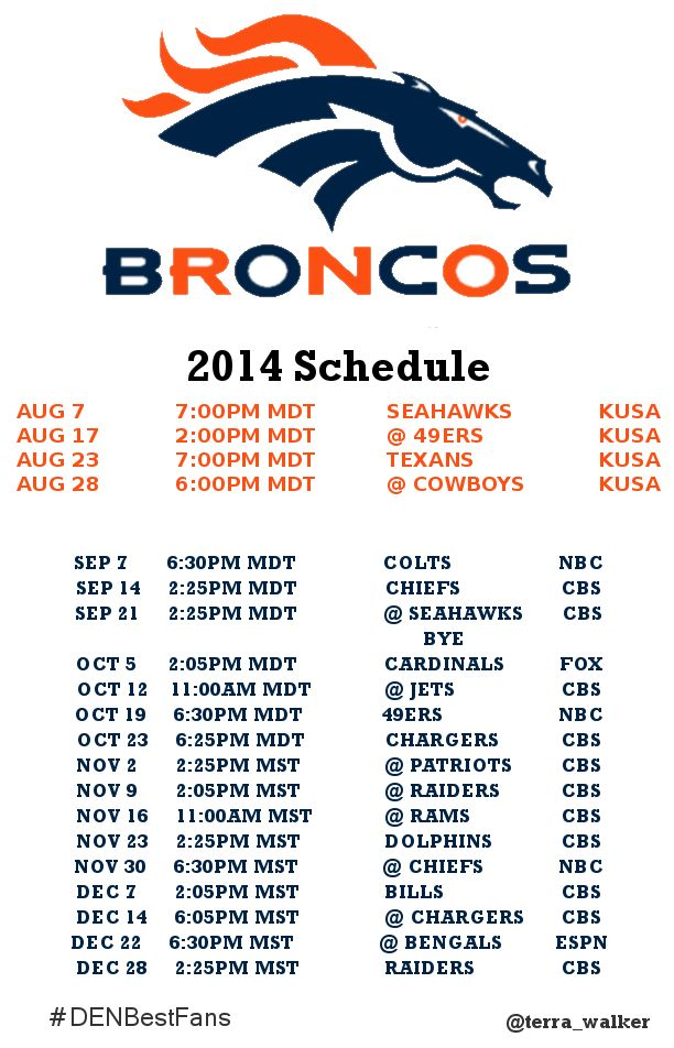 bet books denver broncos schedule and results