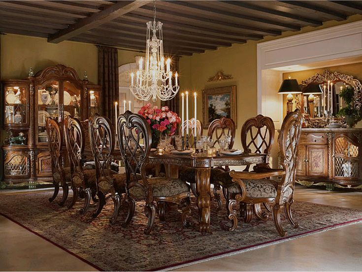 Victorian Dining Room | This beautifully crafted Victorian exclusive Venetian dining room ...