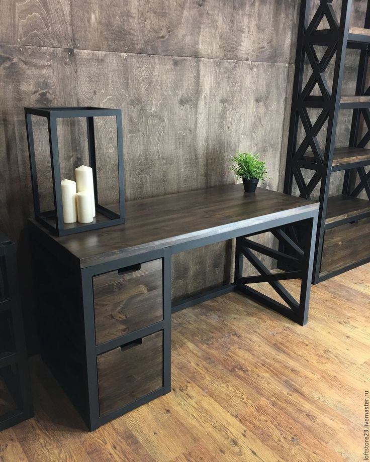 Купить Письменный стол MARSHAL. - коричневый, стол, письменный стол, стол лофт, стиль лофт