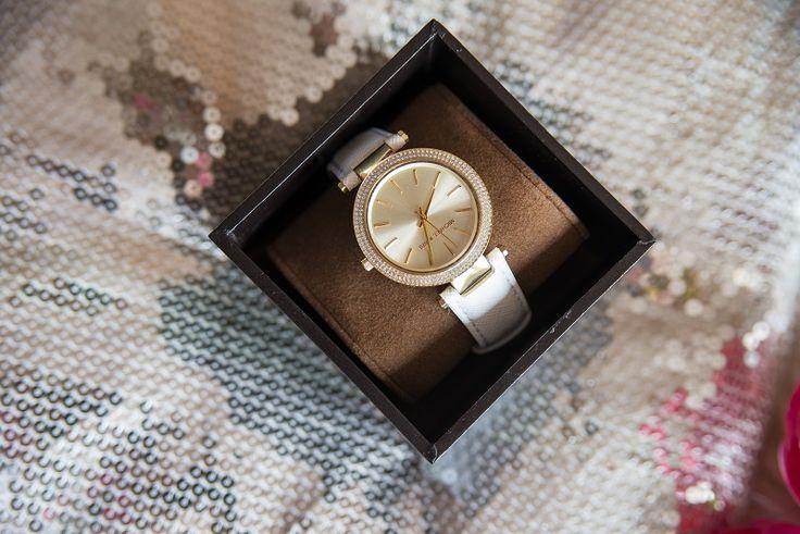 michael kors, darcy golden, white watch (1)