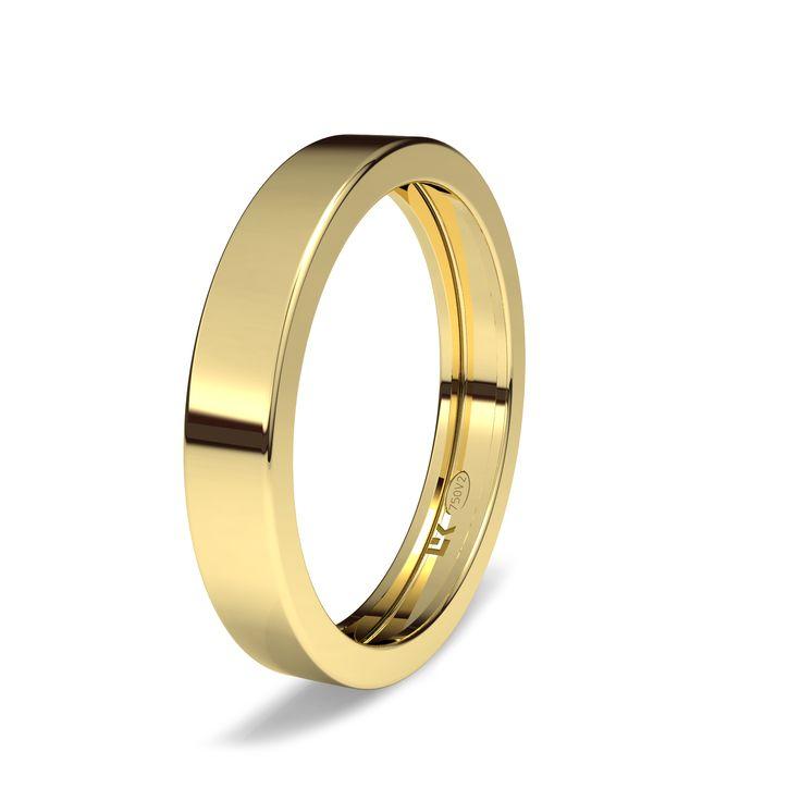 Alianza de oro amarillo de 18K modelo Rec vacia minimal.#novias #bodas #bodas #alianzas #novia | cnavarro.com