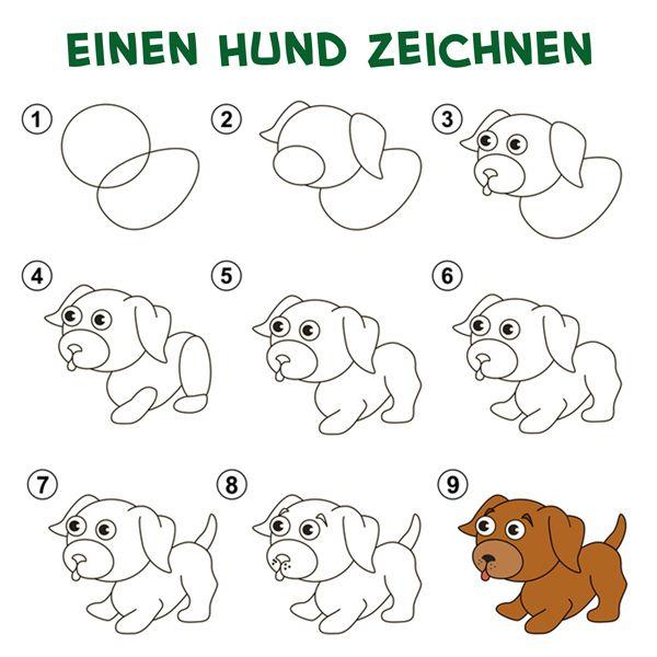 Einfach Zeichnen Mit Den Malvorlagen Von Jolly Male Einfach Nach Hund Zeichnen Einfach Zeichnen Kinder Zeichnen