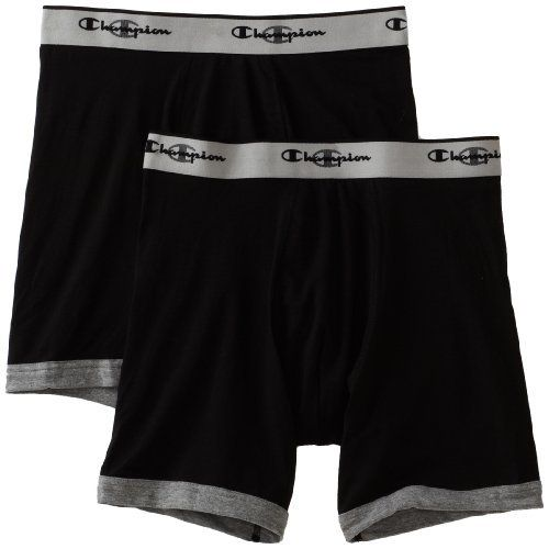 Champion Men's Performance 2 Pack Stretch Boxer Brief Champion. $9.50. boxer-briefs closure. Machine Wash. Double dry wicking fabric pulls moisture from skin. Body: 58% Cotton/37% Polyester/5% Spandex; Mesh: 57% Cotton/36% Polyester/6% Spandex/1% Nylon. 5 inch inseam. Mesh pouch for ventilation and support. Quick drying technology evaporates moisture fast