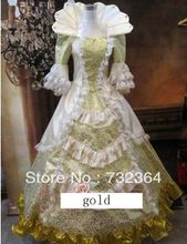 Vrij schip luxe middeleeuwse jurk dress kostuum koningin victorian renaissance gothic lol/marie antoinette/burgeroorlog/koloniale belle(China (Mainland))
