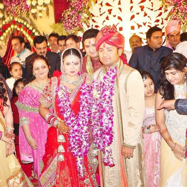 Indian leg-spinner Piyush Chawla tied the nuptial knot with his long-time friend Anubhuti Chauhan in a grand ceremony at Moradabad, Uttar Pradesh, on November 28, 2013. Piyush and Anubhuti posing for photographers during their wedding ceremony (PTI)
