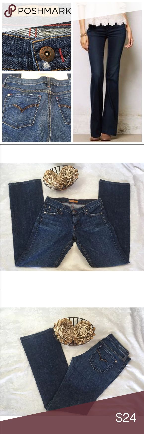 """James cured by Sean women's mid rise bootcut jeans James cured by Sean women's mid rise bootcut jeans Dark rinse super cute extremely well made quality jeans   Size 28  Rise 7""""  Inseam 24""""  Stock BB. B19 James Cured by Sean Jeans Straight Leg"""