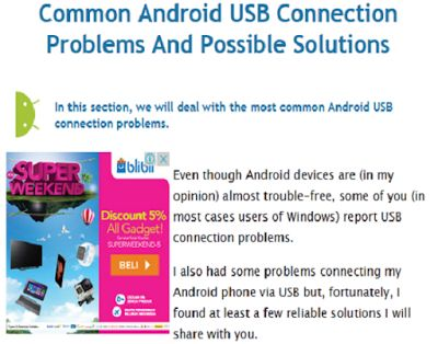 How to fix or solve Android Smartphone that cannot connect to Windows PC