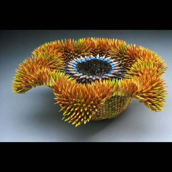 Art+From+Ordinary+Objects+-+Pencil+Sculpture+is+Fearsome+but+Beautiful+(GALLERY)