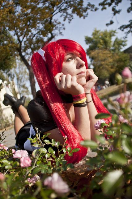 #MondoCon #Hungary #Budapest #Convention #cosplaying #costume #maiddress #Maid #redhair #2013 #female #flower #girl