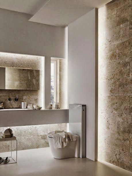 bathrooms lighting. kolorystyka naturalna elementy i podwietleniaale podwietlechyba troch za duo powder room lightingwall lightingbathroom bathrooms lighting n