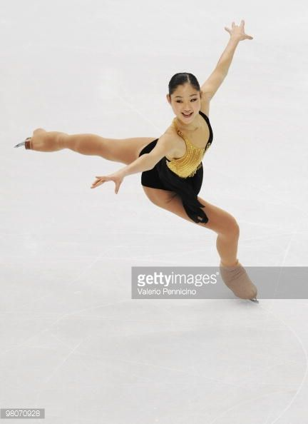 Mirai Nagasu of USA competes during the Ladies Short Program at the 2010 ISU World Figure Skating Championshipson March 26, 2010 in Turin, Italy.
