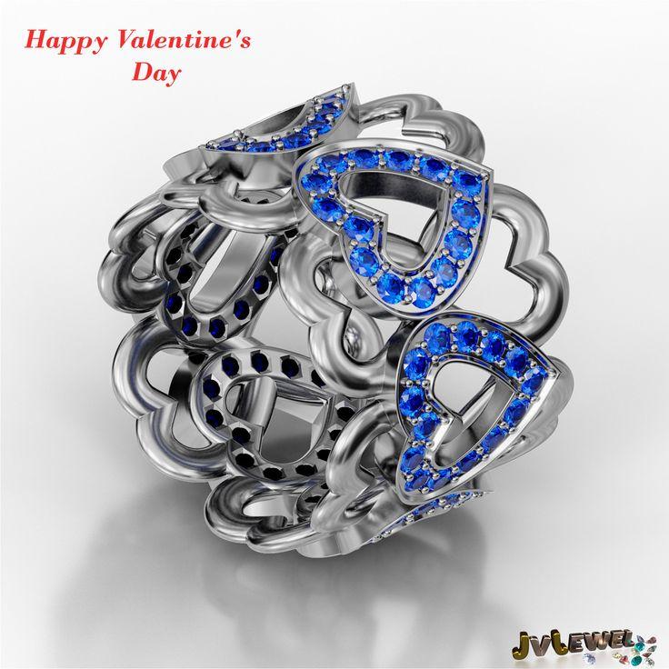 Dale color al amor en San Valentín. Anillo con 6 corazones engastado con 84 espinelas azules. Si no sabes la talla de tu anillo ponte en contacto con nosotros y lo resolveremos de la manera más sencilla. #jewel#jewelry#jewellry#fashion#pave#ring#anillo#silver   #moda#gemstones#stones#gems#gemstonesjewelry #bride#novia#boda#wedding#invitadas#regalos#presents #luxury#luxurylife #luxurylifestyle#blue#spinel#espinela#sanvalentin#valentinesday