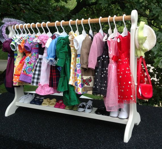 30 in clothes shoe rack 18 in American Girl Doll accessories.