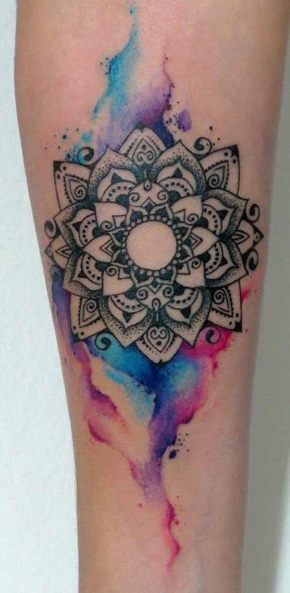 Watercolor+mandala+design