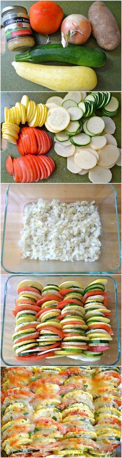 How To Make Summer Vegetable Tian   Food Blog