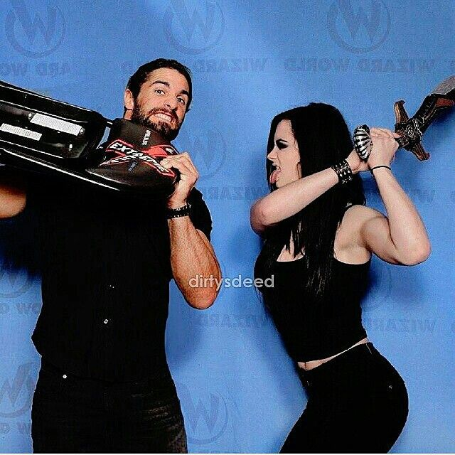 Seth(Rollins) and Paige (WWE Diva)....Real after-work couple.>>>> Wait they're dating?!