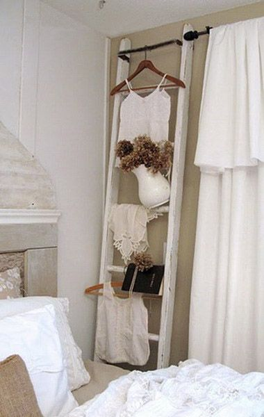 wood ladders for decorating   Creative Wall Decoration Ideas, Old Ladders for Modern Wall Decor