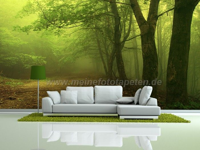 wohnzimmer fototapete wald wildnis natur. Black Bedroom Furniture Sets. Home Design Ideas