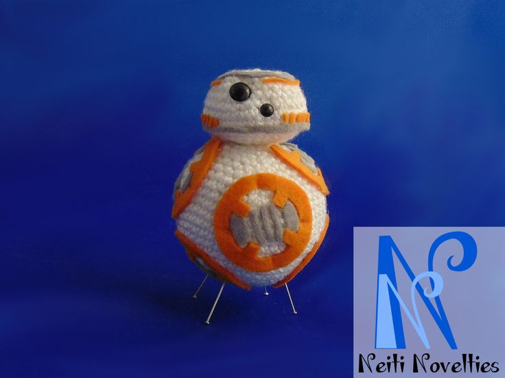 My attempt to crochet BB8 :) I mixed crocheting and some felt and in my opinion it turned out great!